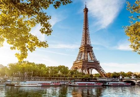 Paryż Wieża Eiffla Tour Eiffel Paris France - fototapeta