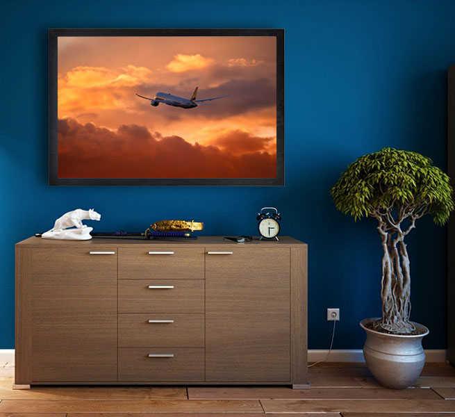 Startujący Dreamliner - plakat premium