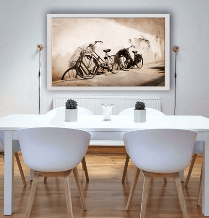 plakat z rowerem